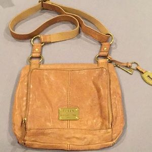 Fossil Tan Leather Crossbody